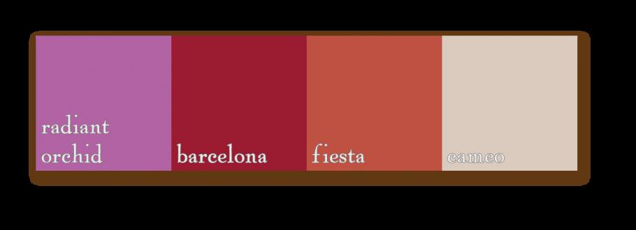palette radiantorchid barcelona fiesta cameo