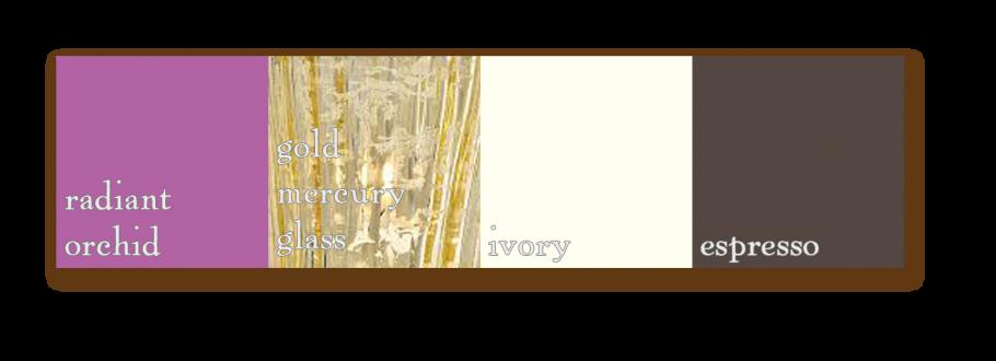 palette radiantorchid goldmercuryglass ivory espresso