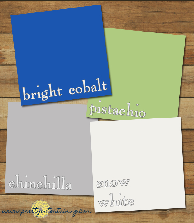 One of Pantone's top ten colors for fall 2014 is Bright Cobalt, an intense medium-toned blue. It's a color that could easily go clean and modern but it's also the color of classic Blue Willow china, which inspired me to put together a romantic blue and white celebration with just a bit of fresh green and silvery grey.
