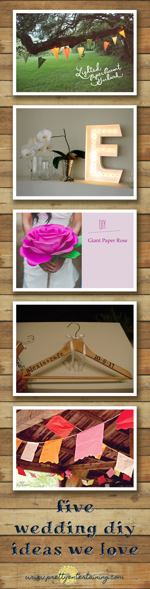I thought I'd share a few of my favorite wedding DIY project ideas with you. These are things I've seen over the past couple of months online that have caught my eye for a few reasons.