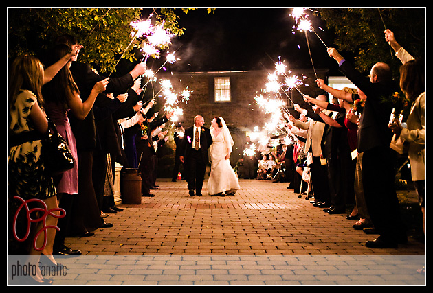 Sparkler Exit photographed by Photo Fanatic Photography