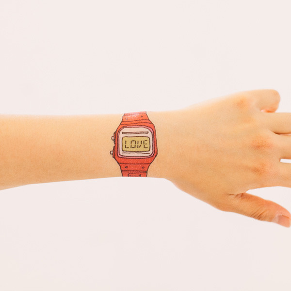 Love Watch temporary tattoo by Tattly, designed by Julia Rothman
