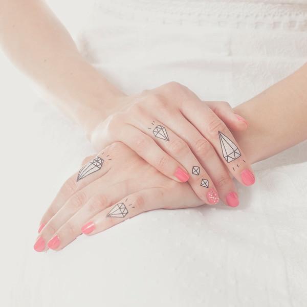Diamonds temporary tattoo by Tattly, designed by Kate Bingaman-Burt