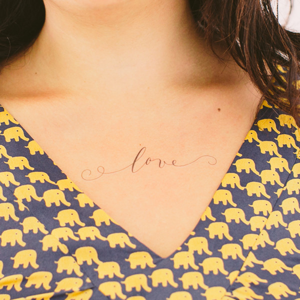 Just Love temporary tattoo by Tattly, designed by Lila Symons