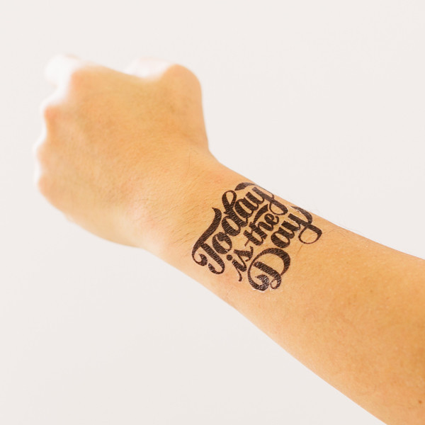 Today is the Day temporary tattoo by Tattly, designed by Jen Mussari