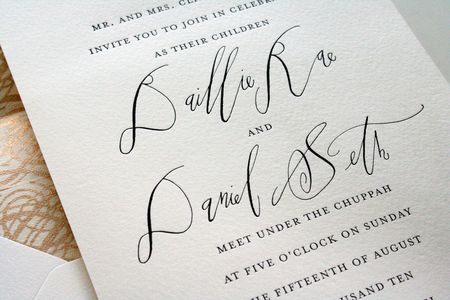invitations by parrott design studio, featuring calligraphy by betsy dunlap