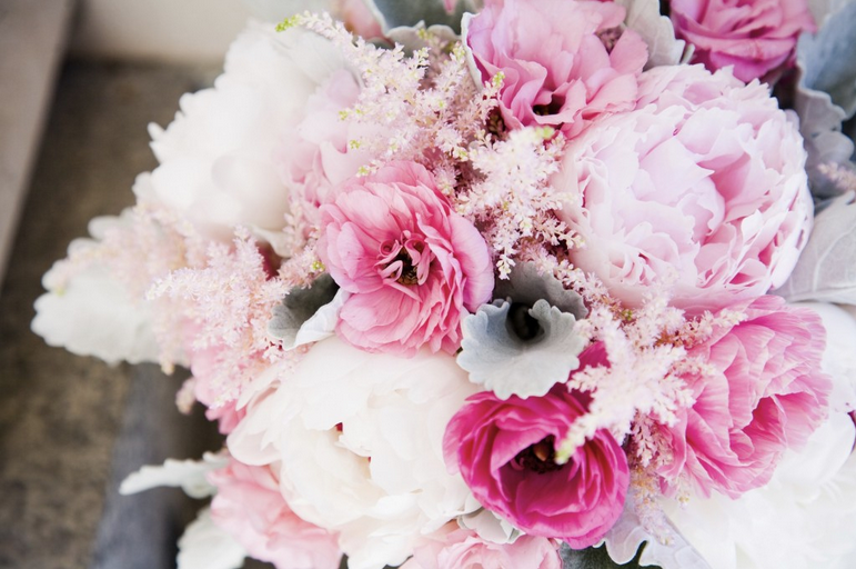 wedding bouquet featuring astilbe by calie rose floral & event design, orem, utah