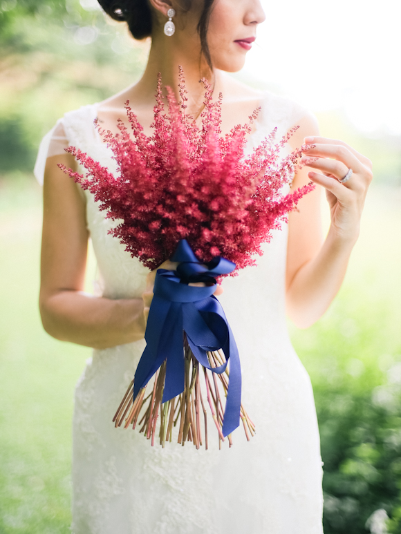 red astilbe bouquet by spruce floral designs, makati city, philippines