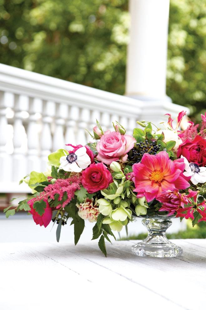centerpiece arrangement featuring astilbe by debruyn designs, maple grove, minnesota
