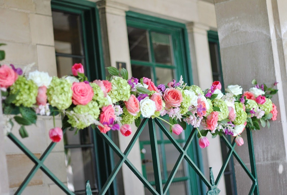floral garland featuring astilbe by sweet pea floral design, ann arbor, michigan