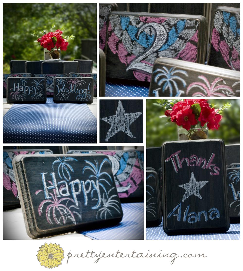 patriotic chalkboard table numbers washington dc wedding planner