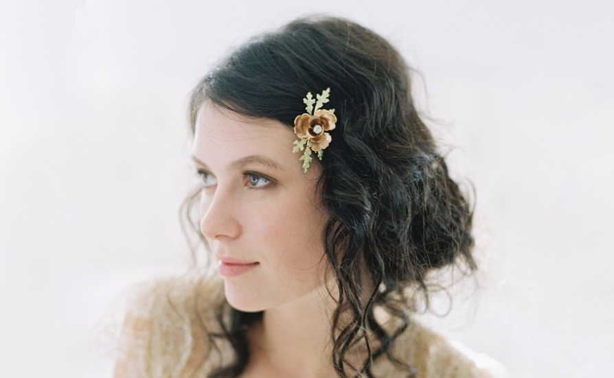 rose of sharon tinted hair comb by erica elizabeth