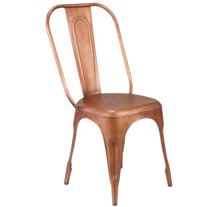copper marais chairs available for rent from patina rentals, new york city