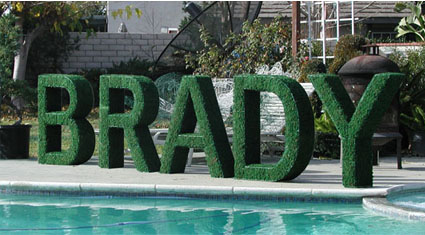 large topiary name letters bar mitzvah decor