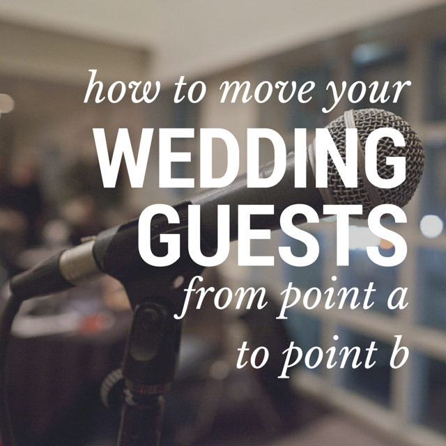 how to move your wedding guests from point a to point b