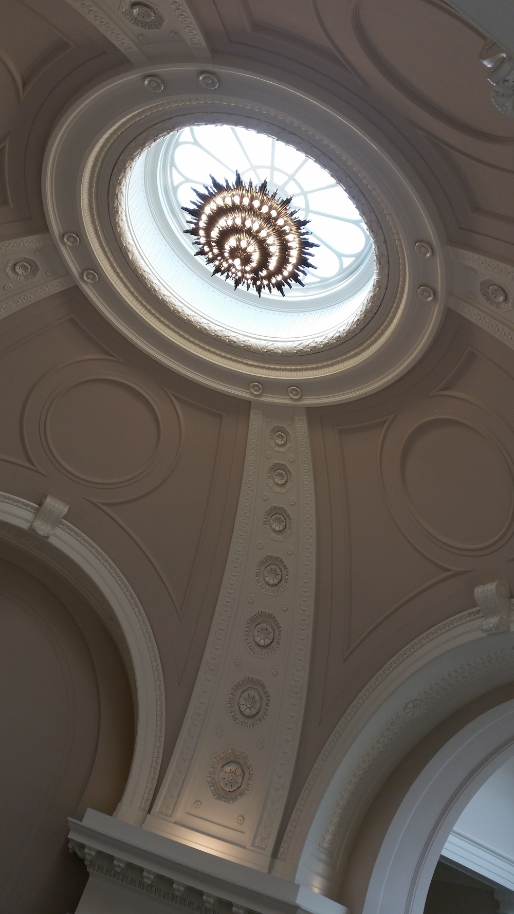 The ceiling of the Rotunda at the Carnegie Institution for Science, Washington, DC