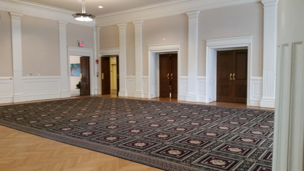 You and your guests will dine in the Ballroom.