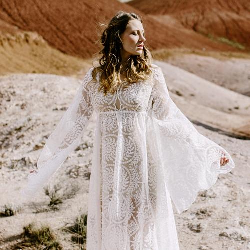 elizabeth dye sonora caftan gown