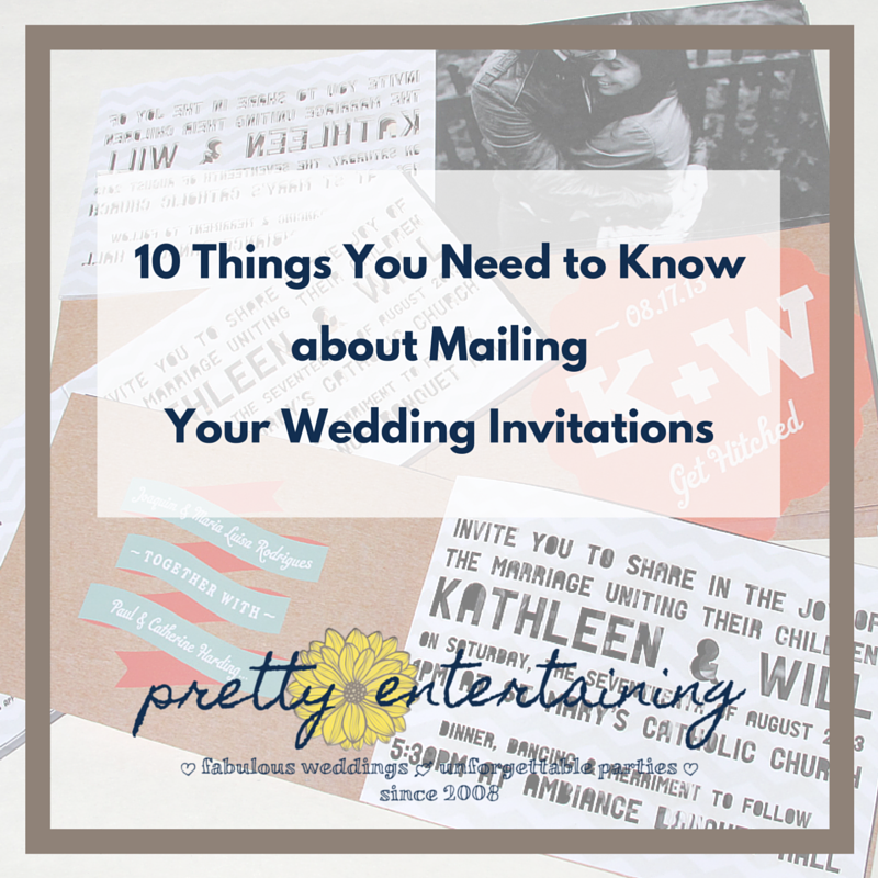 10 Things You Need To Know About Mailing Your Wedding