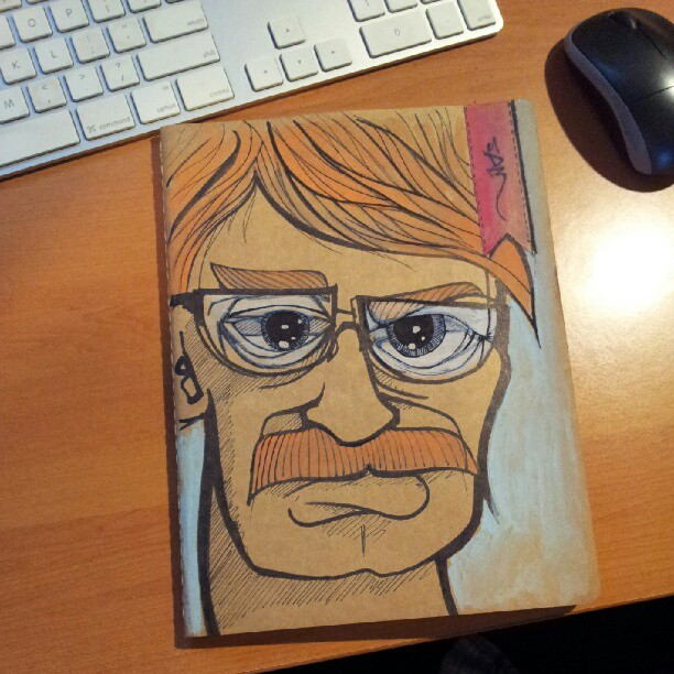 New sketchbook cover. Angry confused (Taken with  Instagram )