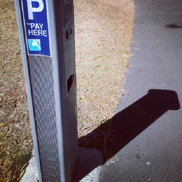 It's true Parking inspectors are dicks : shadows don't lie. (Taken with Instagram)