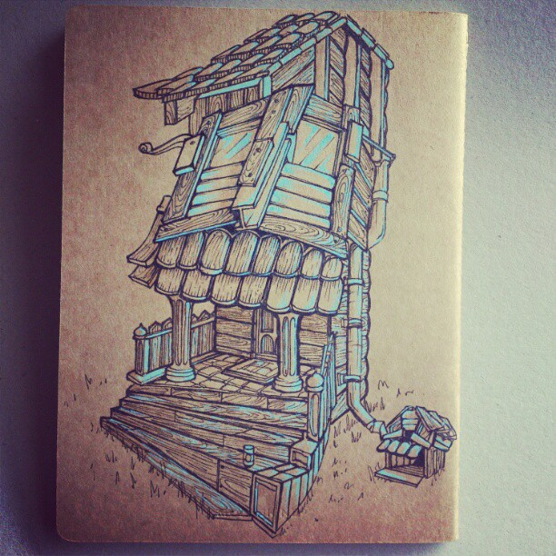 House and house pet. New sketchbook cover