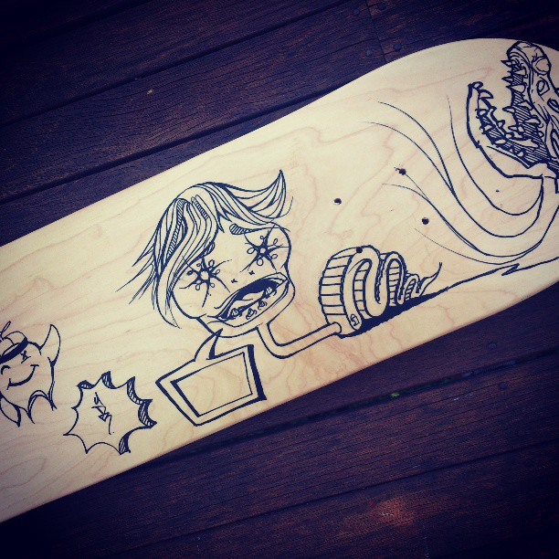 There's a bit of space left What else should I include? #drawing #skateboard #graphic #painting #art #diy