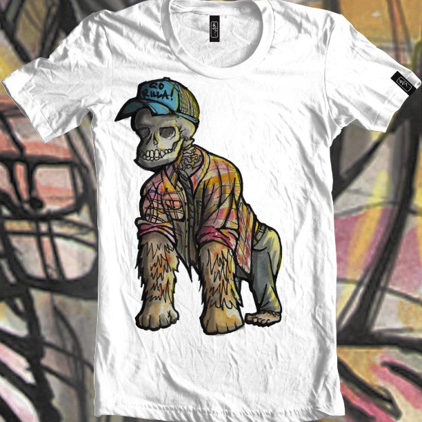 Hipster Gorilla. Available on the internets #t-shirt #gorilla #fashion #flanelette #flano #hipster #skull #furry #clothing