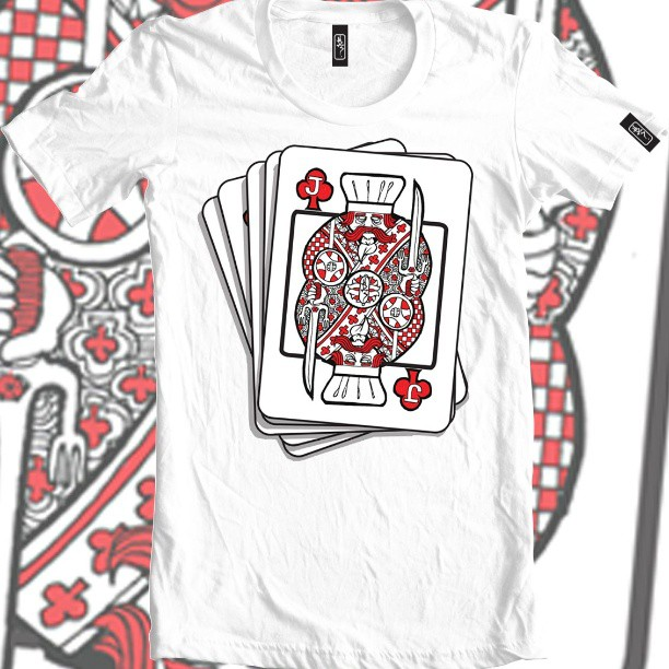 Gambling chef. #card #chef #cooking  #food #tshirt #clothing #fashion #white #red #ink #illustration #design #designer #illustration #artist #playing chef #carddeck #games #gambling #cardgames #summer #wear #chest