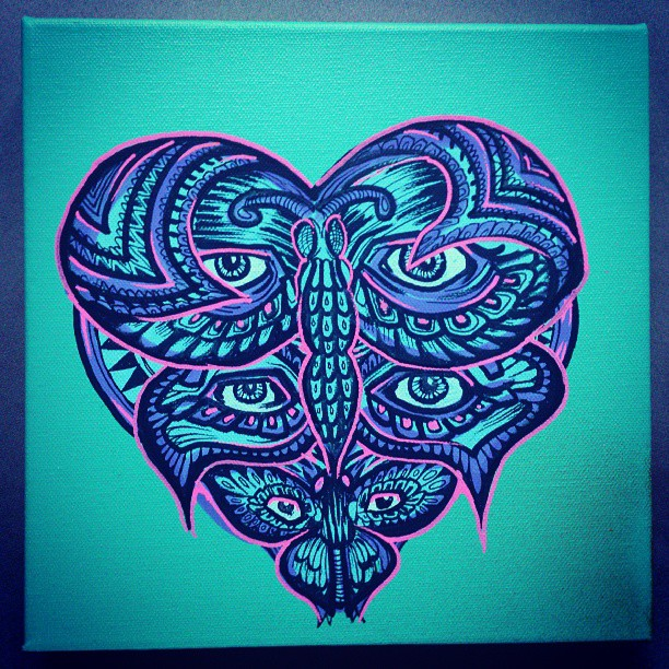 Happy mothers day mum! #heart #gift #painting #butterfly #eye #animal #insect #marker #ink #diy #mother #mum #nice #beautiful #arty #design #designer #pink #purple #blue #illustration #good #sunday
