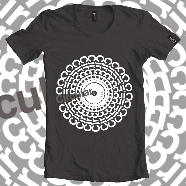 Circular type tee. #tshirt #clothing #black #type #typography #circle #nice #fashion #readthis #summer #fun #