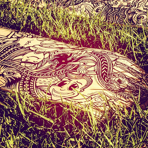 Skateboard series grass roots shoot #grass #streetart #illustration #blackandwhite #penandink #draw #tattoo #strange #bizarre #abstract #elephant #animal #eye #ink #outdoor #art #artist #designer #design #northernbeaches #beaches #skate