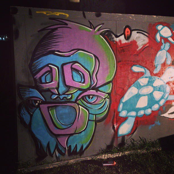 Speech bubble monkey. Cheers @workshopaus  #monkey #face #streetart ##spraypaint #art #painting #Sydney #colours