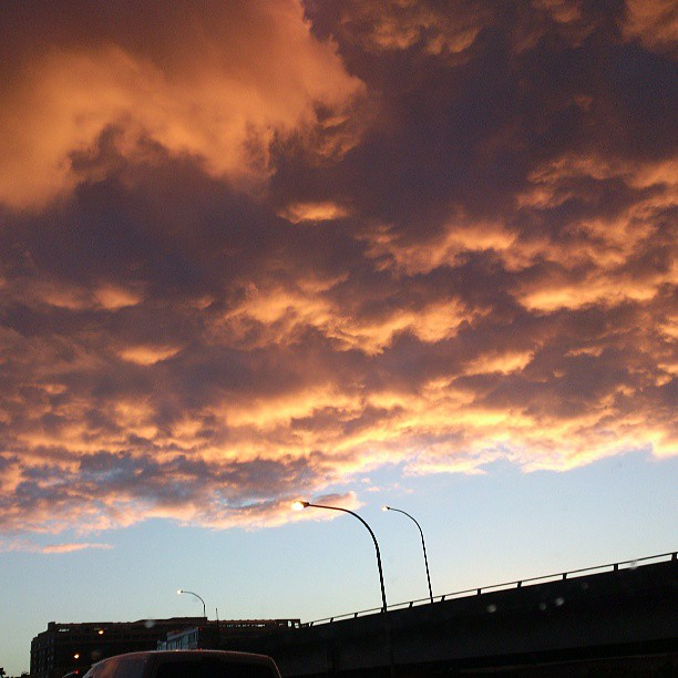 #nofilter #sydney #clouds #beautiful #sunset #surreal #orange #traffic #lookupsometimes #nice #weather #skyline #darlingjarbour