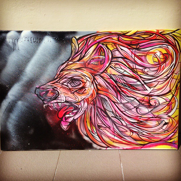 A roaring good night. #painting #illustration #abstract #lion #hair #fur #mouth #night #artist #art #designer #fun #bright #colourful #red #yellow #orange #instalike #canvas #forsale