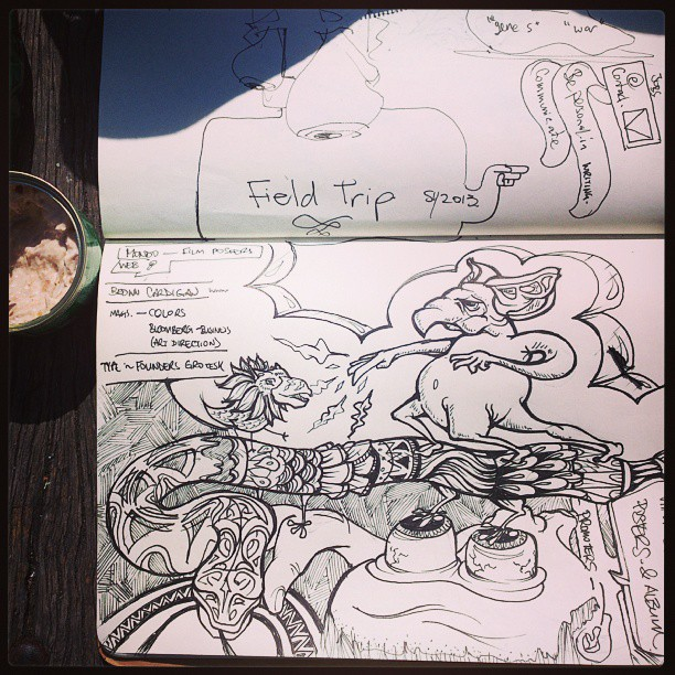 Vigorous note taking during Field Trip. @afieldtrip #fieldtrip #doodle #sketch #sketchbook #sydney