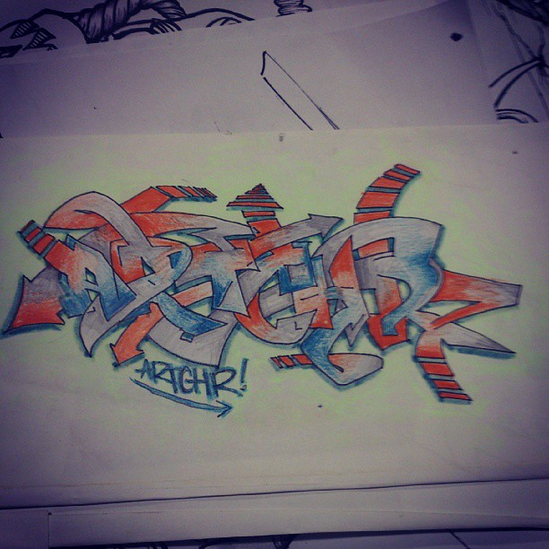 Haha found some Graff sketches from back in yr7