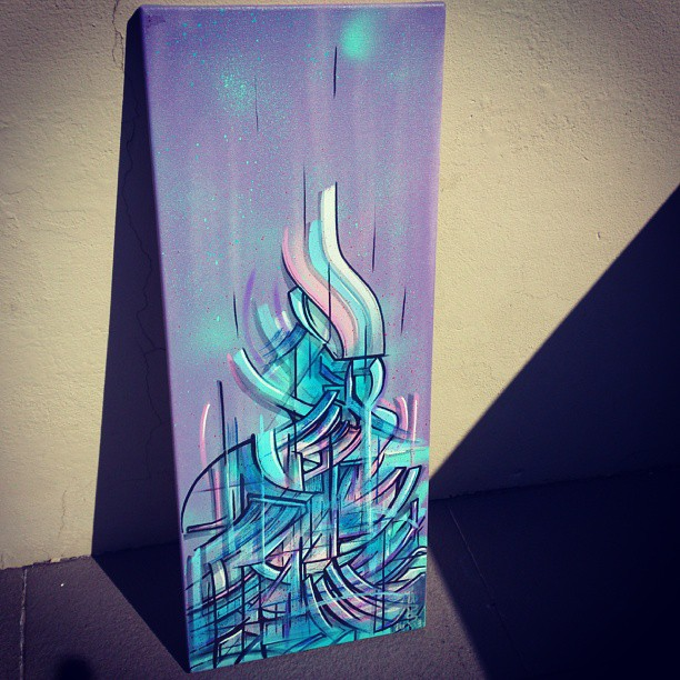Rad day to paint. Temple. 75x35cm spray paint and markers.