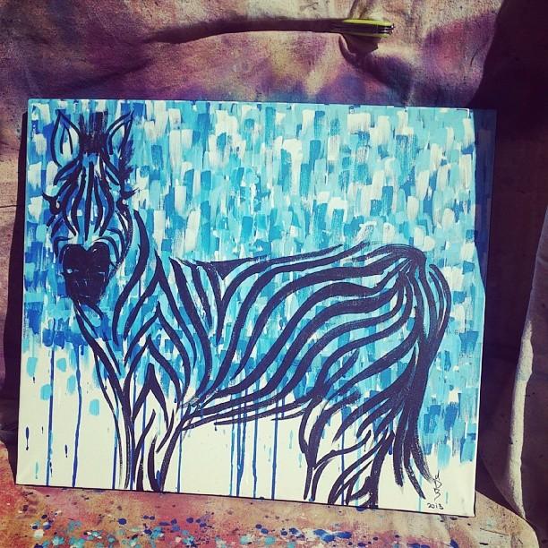 The rumpy zebra. Sunday arvo commission for Kat the kiwi.