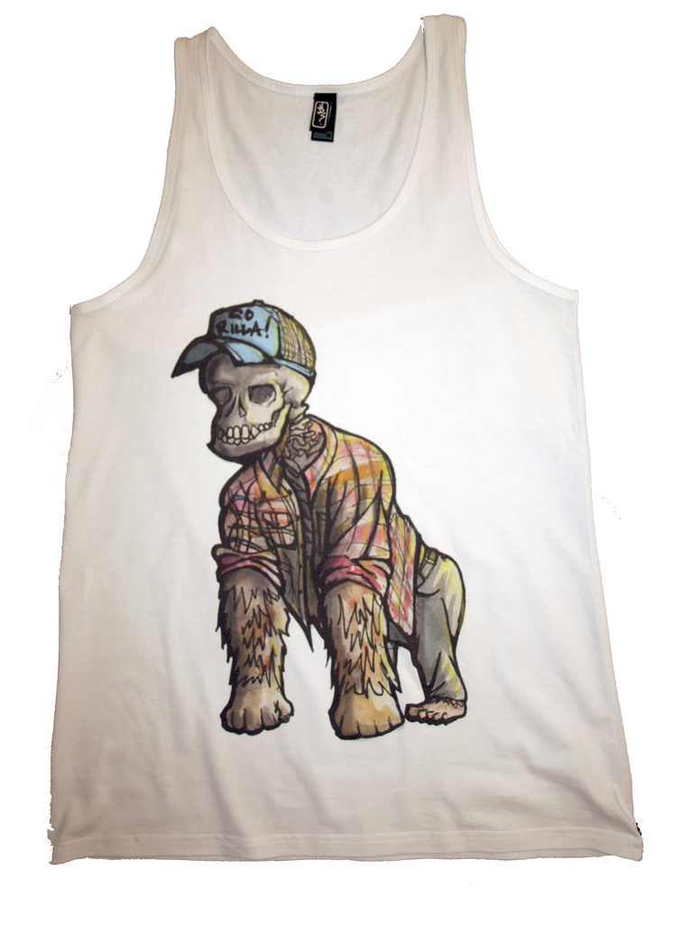 Hipster Gorilla Singlet (by www.theud3.com)