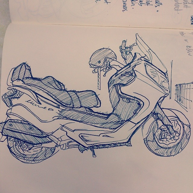 I reckon it kinda looks like the scooter I was sketching.