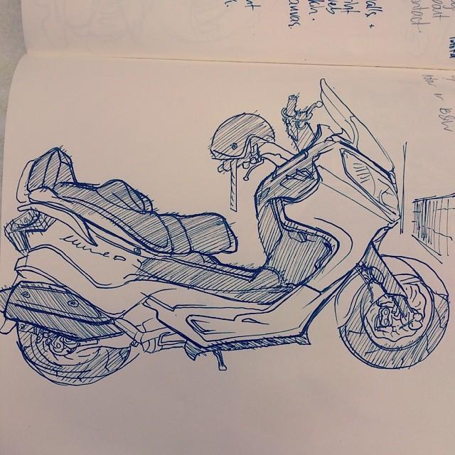 I reckon it kinda looks like the scooter I was sketching.