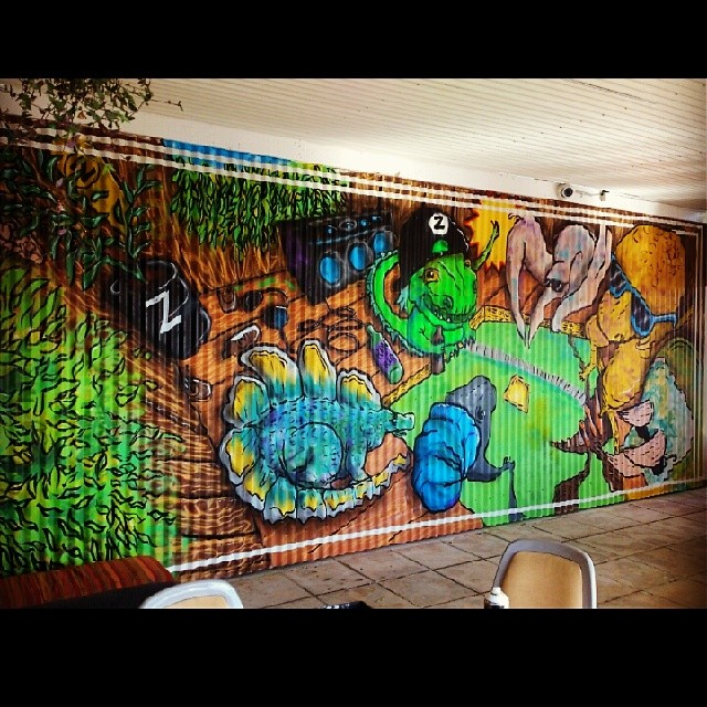 Sprayed this out over the weekend in Zilla a dinomite new bar in Bathurst #streetart #spraypaint #graffiti #mural