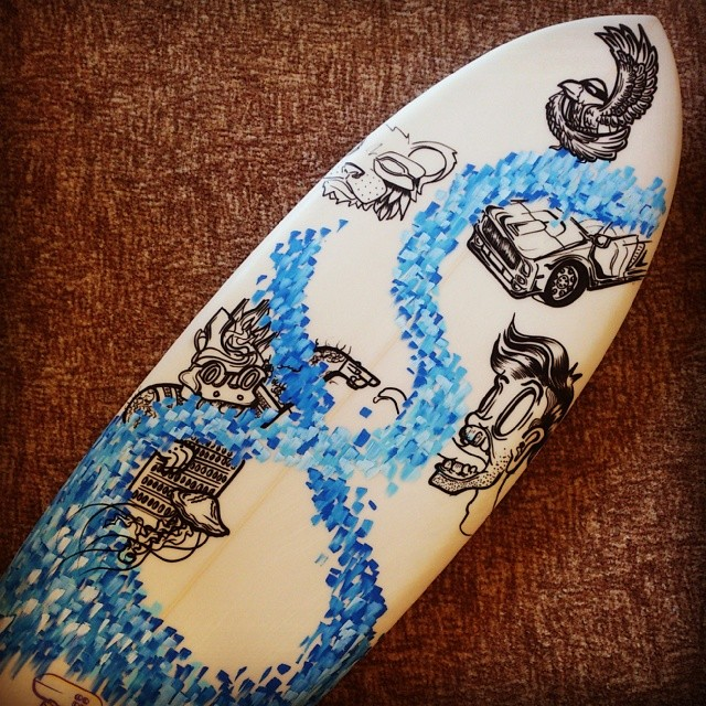 It begins.. A mates Easter custom surf board. #surf #custom #ink