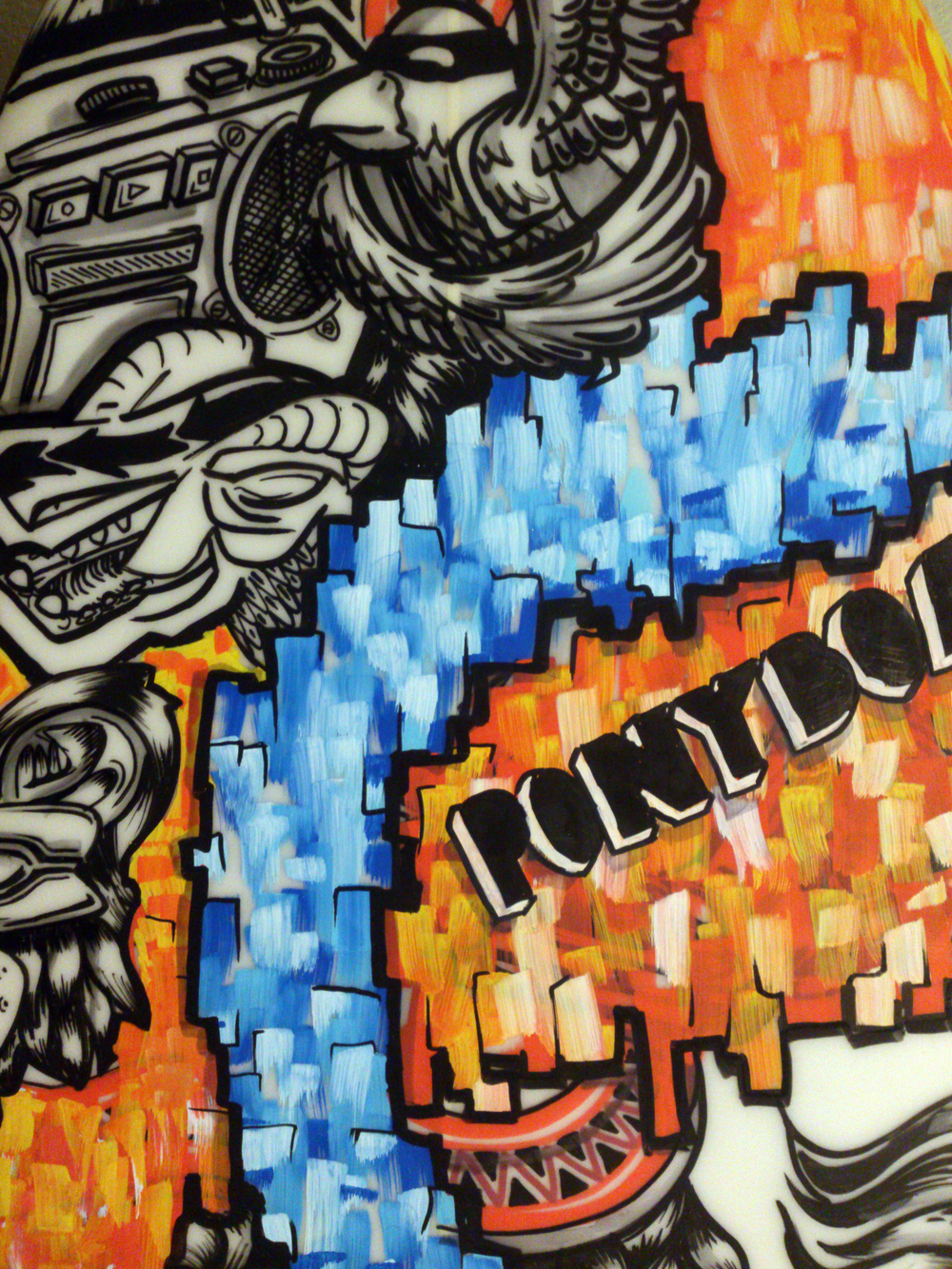 close-up-texture-paint-orange-blue-surfboard-handmade-handpainted-posca-sydney-illustrator-samshennan-sam-shennan-ud3.jpg