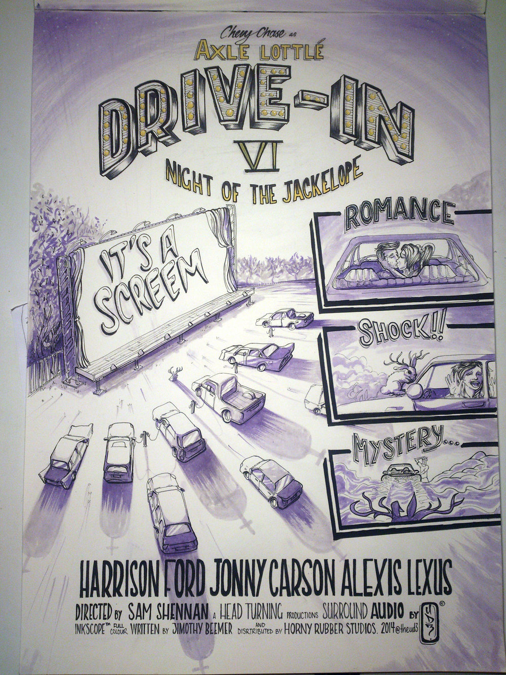 My Poster for the show.: Drive-In 6: Night of the Jackelope