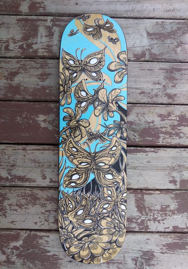painting skateboard graphics in illustrator