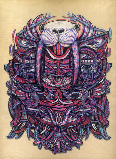 Sam-Shennan-psychedelic-mask-walrus-original-artwork-painting-trippy-intricate-detailed-posca-wood-process-primitive-tribal-trippy-Walrus-400px.jpg