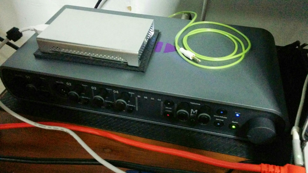 The Avid MBox Pro 3 I used at home