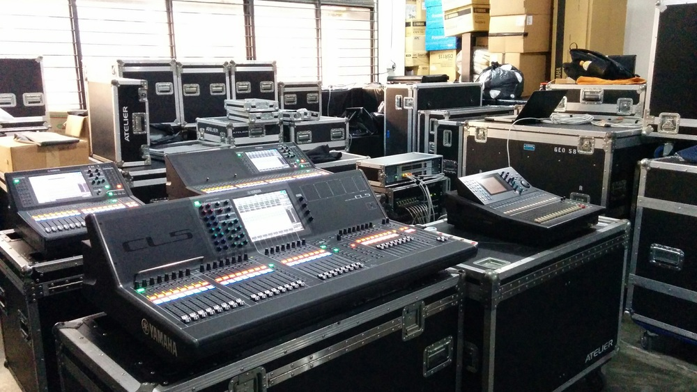 The Yamaha devices (Dante enabled) I used at work